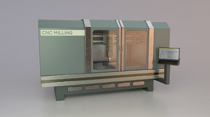 3D model industrial cnc milling machine