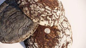 3D bread premium model