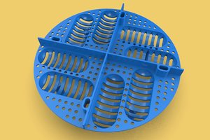eggs reptile incubation tray 3D