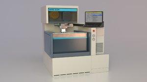 wire edm machining 3D model