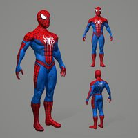 pbr spiderman 3D model