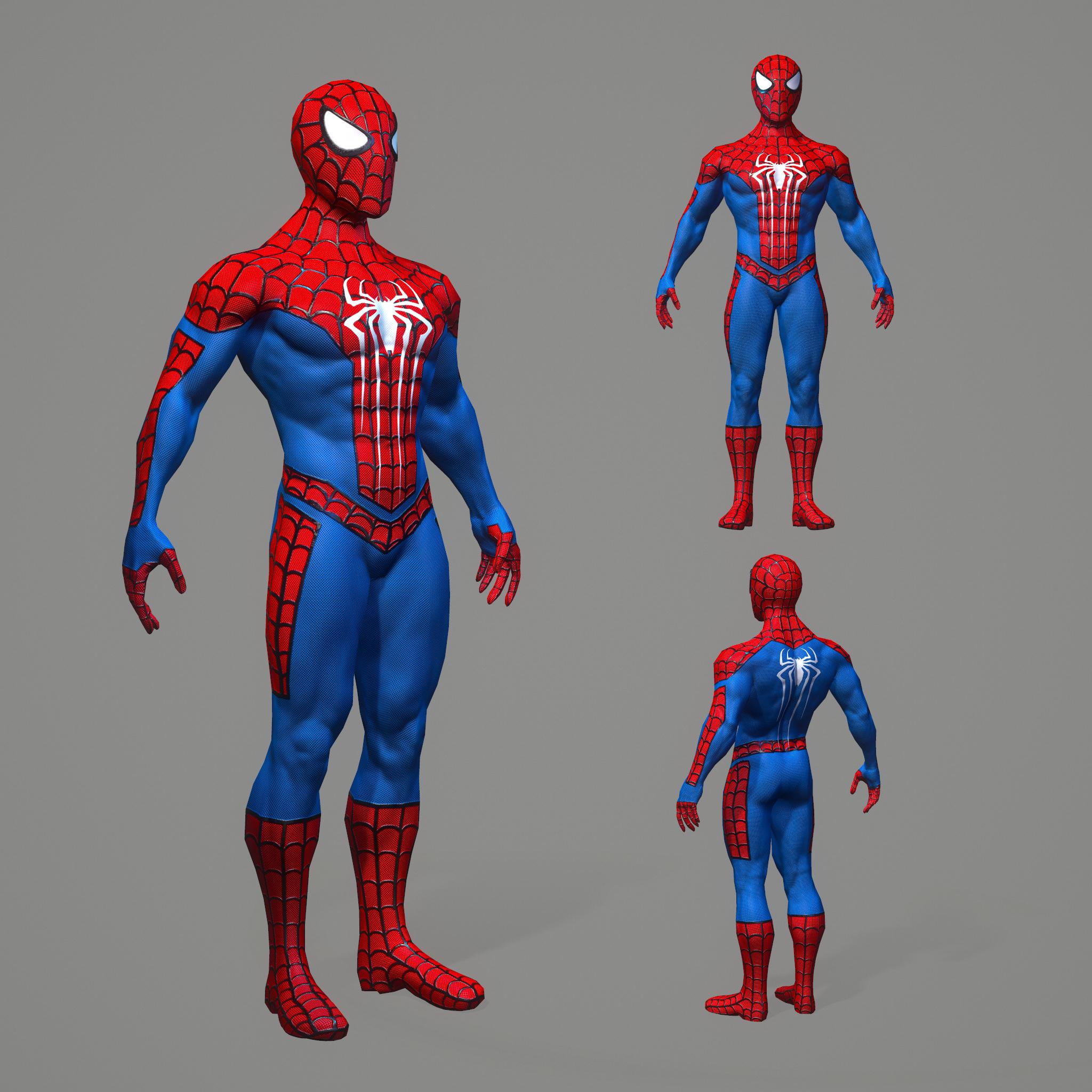 Pbr Spiderman 3d Model Turbosquid 1440779