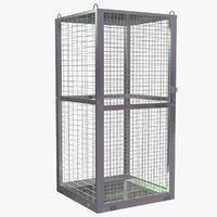 3D model storage cage