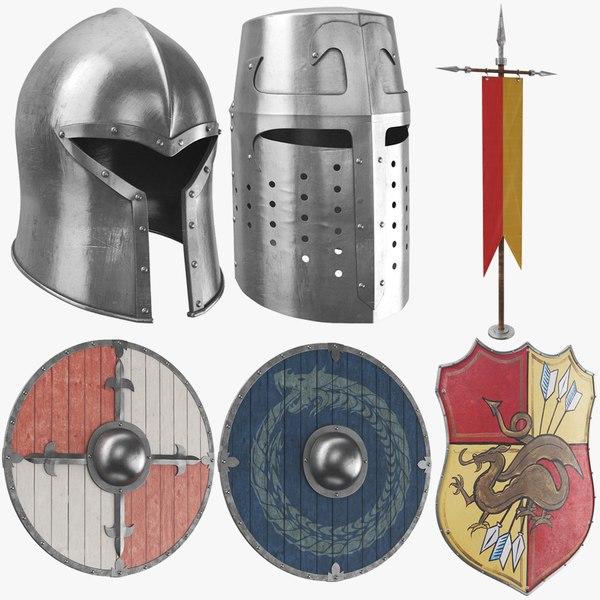 real medieval armor set model