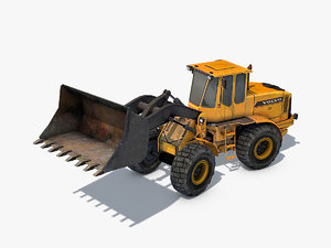 3D wheel loader rigged industrial