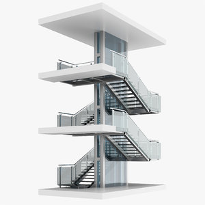 3D model stair staircase