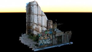 scan abandoned building lot 3D