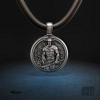 3D jewelry pendant spartan warrior