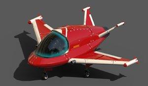 cartoon ships pbr 3D model