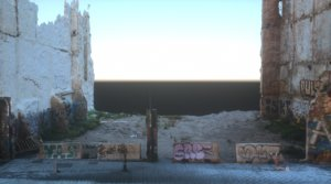 abandoned building lot walls 3D model
