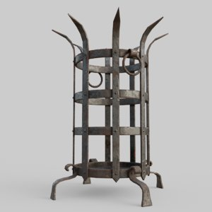 iron brazier dungeons 3D model