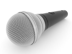 3D model microphone blender v-multi