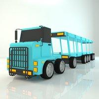 3D carrier truck cartoon