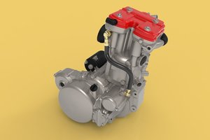 3D husqvarna 630 engine sm