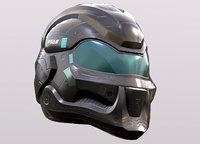 Sci-fi Helmet Model