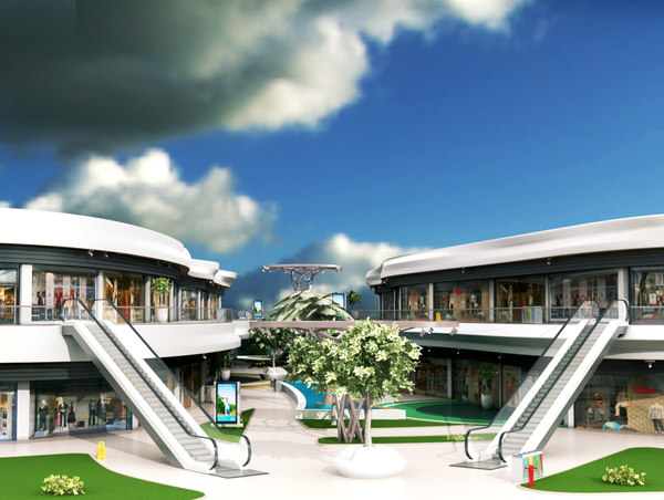 shopping mall 2 3D model