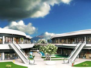 shopping mall 2 3D model