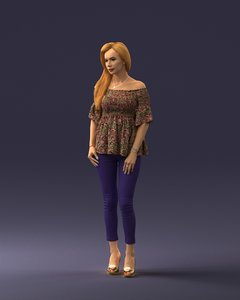 human character people 3D model