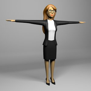 3D business woman model