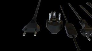 3D model industrial plug socket kind