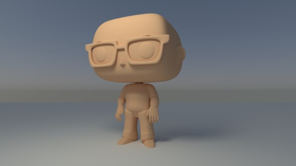 custom pop bald man 3D model