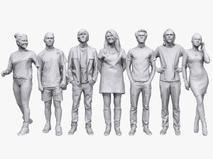 casual characters human 3D