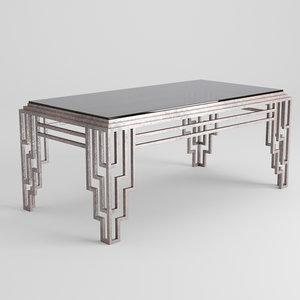 3D model table cofe art