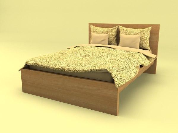 interior bed malm 3D model