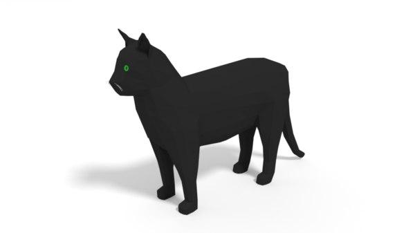 cat cartoon model