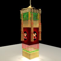 3D chinese royal palace lantern model