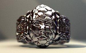 3D model ring god stone