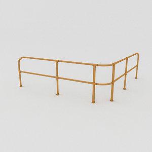 metal railing 3D model