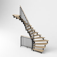 modern stair railings 3D model