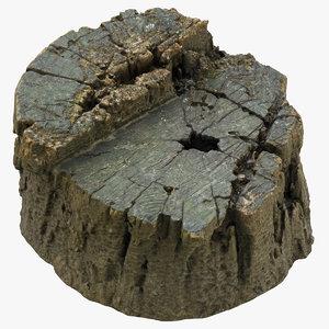tree stump 01 3D