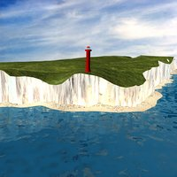 british coastline 3D model