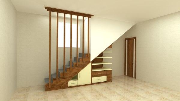 3D staircase decor