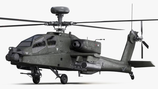 3D ah64 apache longbow model