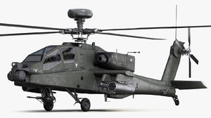 3D ah64 apache longbow model