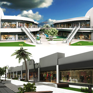 3D shopping mall model