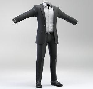 3D men suit model