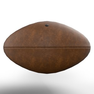 football rugby ball model
