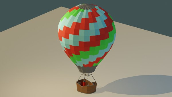 colorful air balloon 3D