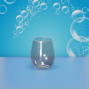 3D glass tumbler