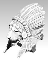 lion ring indian 3D