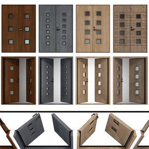 3D entrance wood doors