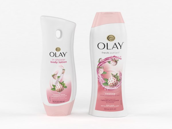 olay body wash lotion 3D
