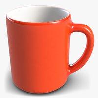 red tea cup 2 3D model