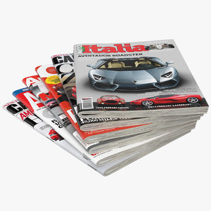 3D magazines open set 6 model