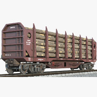 3D logging wagon firewood