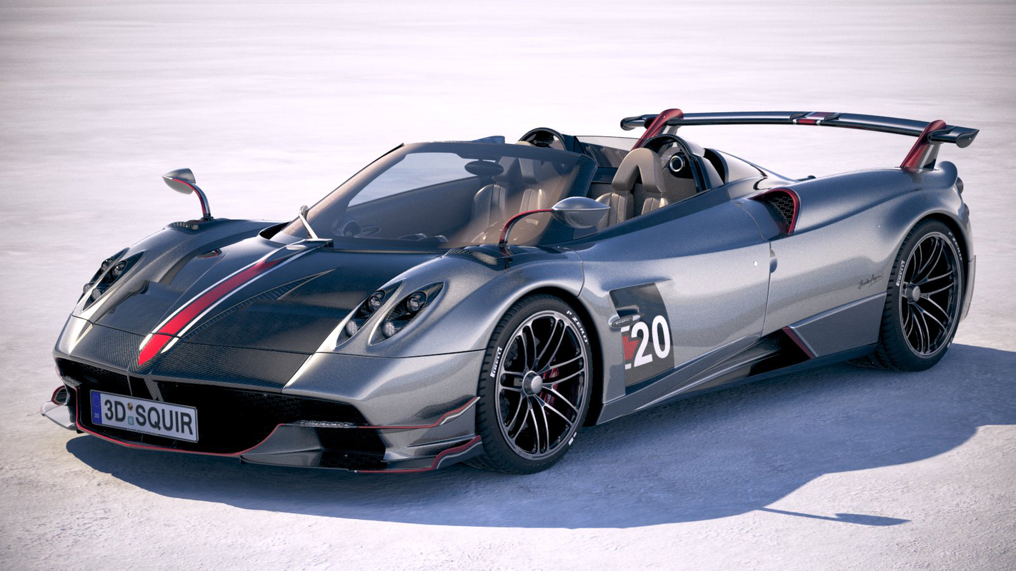 3D pagani huayra roadster model